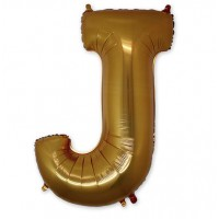 Фольгированная Буква J золото (102 см)